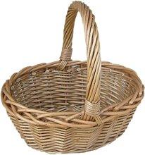 Mini Oval Shopping Wicker Basket Beachcrest Home