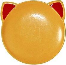Mini Plate , 1/12 Cartoon Cat Shape Miniature