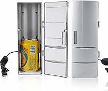 Mini Portable Refrigerator with Freezer, Compact