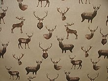 Mini Print Highland Stags Deer Country Side Linen