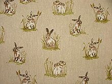 Mini Prints Hares Country Side Animals Linen Look