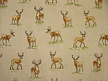 Mini Prints Stags Deer Country Side Animals Linen