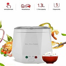 Mini Rice Cooker, 12V 100W 1.3L Electric Food