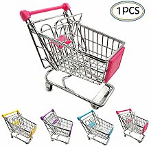 Mini Shopping Cart Metal Toy Supermarket Trolley
