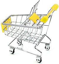 Mini Shopping Cart Plastic Metal Trolley Toy Alloy