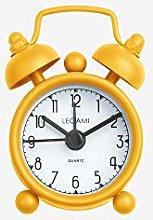 MINI TICK TOCK ALLARM CLOCK - YELLOW