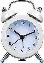 Mini Twin Bell Alarm Clock, Loud Wind-Up Alarm