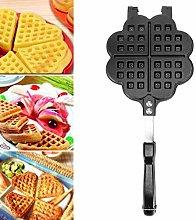Mini Waffle Maker, Stovetop Non-Stick Waffle Iron