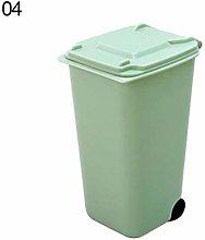 Mini Wheelie Trash Can Storage Bin Desktop