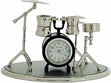 Miniature Drum Kit Novelty Silvertone & Black