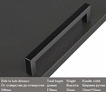 Minimalism Cabinet Handles and knobs Matte Black