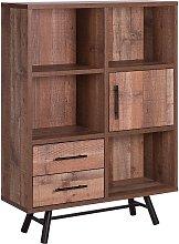 Minimalist Bookcase Bookshelf Storage Unit Drawers