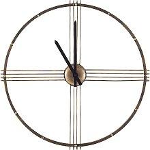 Minimalist Elegant Round Slim Gold Wall Clock Open