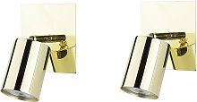Minimalist Glamour Set of 2 Wall Sconces Lamps