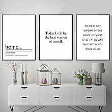 Minimalist Home Poster Print Encourage Nordic Wall