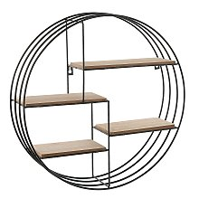 Minimalist Metal Wall Mounted Round Floating Shelf