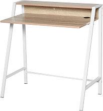 Minimalistic 2-Tier Writing Desk Computer Table