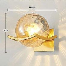 Minimalistic Wall Lamp Creative Round Glass Night