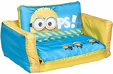 Minions 2 in 1 Inflatable Flip Out Mini Sofa and