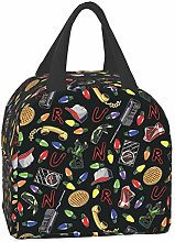 MINISOON Stranger Things Black Insulated Lunch Bag