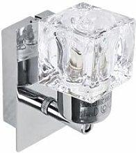 Minisun - 2 x Chrome Glass Ice Cube Indoor Wall