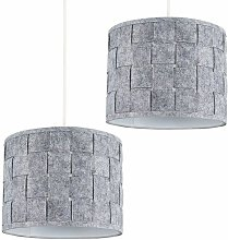 MiniSun - 2 x Small Grey Felt Weave Ceiling