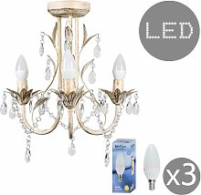 MiniSun - 3 Way LED Chandelier + Acrylic Jewel
