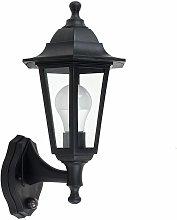 MiniSun - Black Outdoor Security Pir Motion Sensor