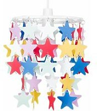 Minisun - Children'S Bedroom / Multi Coloured Stars Ceiling Pendant Light Shade