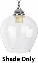 MiniSun - Clear Glass Bell Ceiling Light Pendant