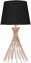 MiniSun - Copper Metal Twist Table Lamp With
