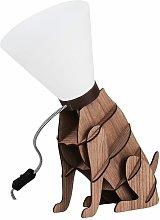MiniSun - Dog Table Lamp Brown Wood Dog On Lead