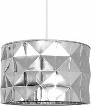 MiniSun - Geometric Chrome Ceiling Light Shade