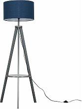 MiniSun - Tripod Floor Lamp In Grey - Navy