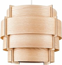 MiniSun - Wood Lampshade Veneer 4 Tiered Ceiling