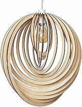 MiniSun - Wooden Spiral Ceiling Pendant Light