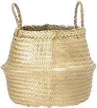 Mink Interiors - Medium Gold Seagrass Storage