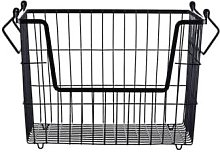 Mink Interiors - Metal Storage Basket - Matt Black