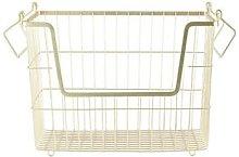 Mink Interiors - Metal Storage Basket Matt Gold -