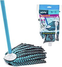 Minky Smart Scrub Strip Mop and Replacement Head.