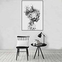 MINMIN Print painting Vanishing Girl Background