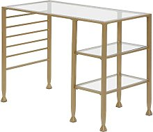 Minna Desk Zipcode Design Colour: Soft Gold
