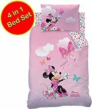 Minnie Mouse Papillon 4 in 1 Junior Bedding Bundle