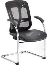 Minsk Mesh Back Visitor Chair, Black, Free