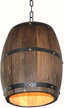 Minsong Wood Wine Barrel Pendant Light,Antique
