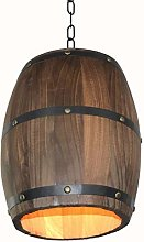 Minsong Wood Wine Barrel Pendant Light,Antique