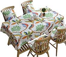 MiQueen Rectangular Tablecloth Waterproof Printed