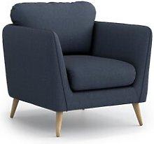 Mira Armchair Hykkon Upholstery Colour: Dark blue