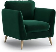Mira Armchair Hykkon Upholstery Colour: Dark Green