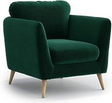 Mira Armchair Hykkon Upholstery Colour: Dark Green